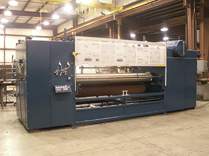 "110"" wide hot melt roller coater"