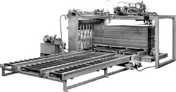 Automatic vacuum sheet feeder.