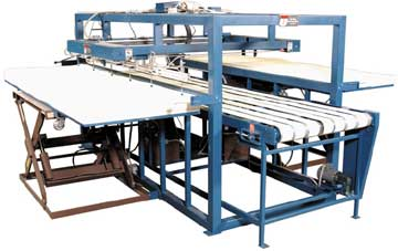 Foam sheet feeder and destacker.