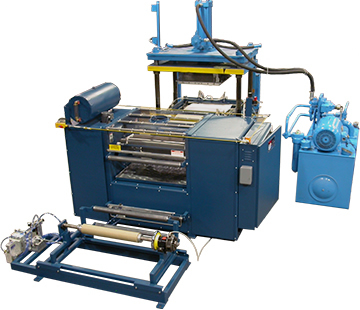 Hitch-Feed Laminator System for Spot-Coating Pur Hot-Melt to Web-Feed Artwork