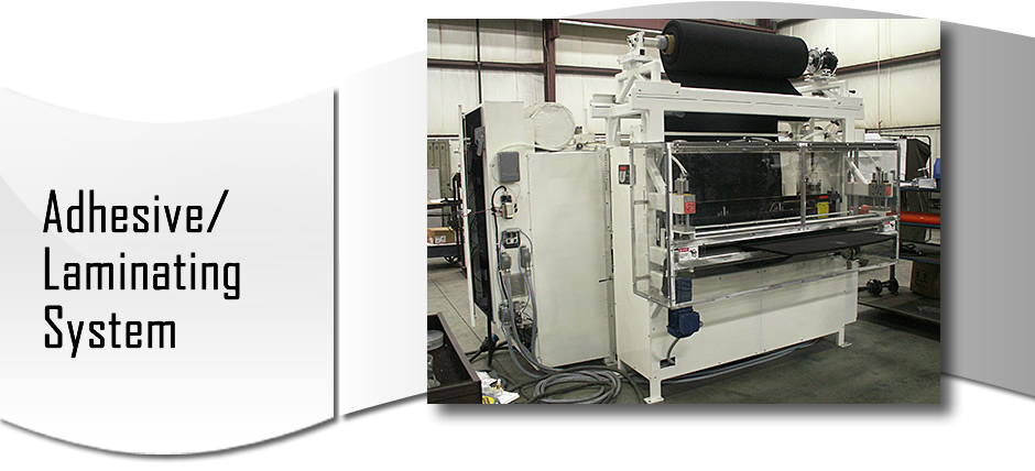 Hot Roll Laminators with adhesive feature for the automotive industry from Union Tool produced a laminated truck cover