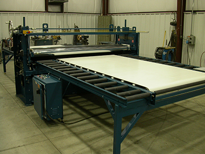Hot melt roller coater laminatro for floor mats